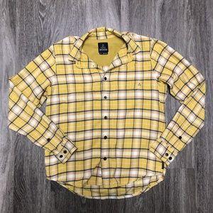 PrAna womens flannel button up shirt